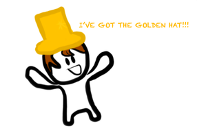 Ross and his golden hat by LunarMoonMC