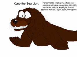 Kynno the Sea Lion.( Do not steal ) for my project by valentinfrench