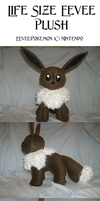 Commission: Eevee Plush by xxtemporaryinsanity