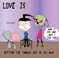 ZaDr love is...getting the tangles out by Art-forArts-Sake