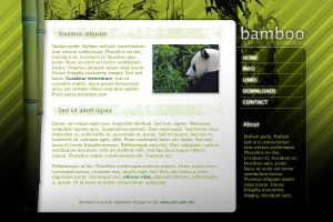 Bamboo Web Template by djog
