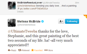 MELISSA SAW MY PAINTING by RebasTweeba