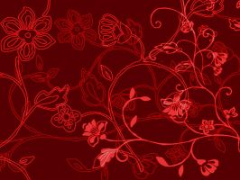 Flower wallpaper in red by jessicaisawesome