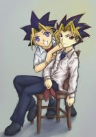 Yugi and Yami by kelvarin