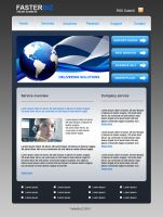 Blue business web template by Player-Designer