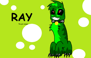 Ray the pet creeper by Obsidianthewolf