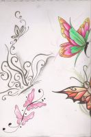Butterfly Tattoo Designs 3 by kittyshi202