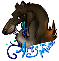Arts the Muse Bust Badge by BGArts