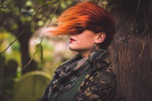 Hair of Fire in Winds by daxtep