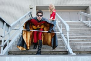 Robin and Wondergirl by arivin923