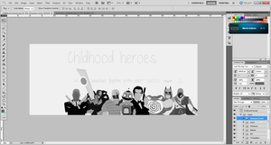 Childhood heroes in progress 3 by alexandersolbakken
