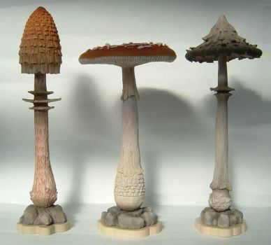 MUSHROOM SCULPTURES by thebiscuitboy