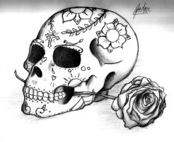 Day of the dead tribute by artist400