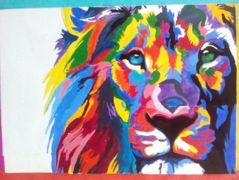 Lion color by Sinned1990PD