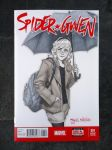 Gwen Stacy blank cover sketch by merkymerx
