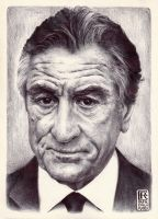 Robert De Niro Ballpoint Art by Rafik Emil H by rafikemil