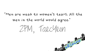 2PM Taecyeon's Quote [PNG] by xElaine