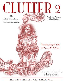 Clutter 2 Art Show Flyer by mothbot