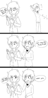 Pain is hilarious? (comic based on a Tumblr post) by maeven3