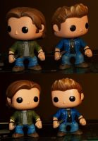 Funko Sam and Dean Repaint collage by LMRourke