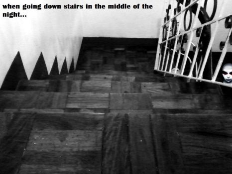 When going down stairs... by voseph