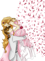 Wedding and roses by Neridy