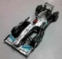 Clay model Mercedes GP F1 by Galbatore