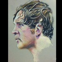 Colored Pencil - Dean Ambrose. by Artbynash