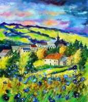 Village amid the flowers by pledent