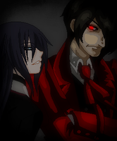 Hellsing-Narissa Trying to Calm Down Alucard by TFAfangirl14