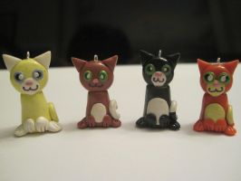 Cat charms, group 4 by Blazesnbreezes