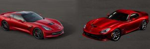 New Chevy Corvette Stingray vs. SRT Viper by LorenzoItaly