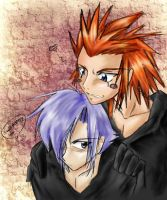 Axel x Zexion collab by Garagos