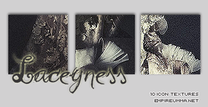 ICON TEXTURE 1 : Laceyness by chazzief