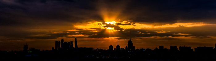 Sunset in Moscow by unicornamira