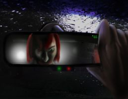 Objects in mirror are closer than they appear. by anakrusix
