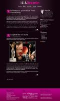 Minimalistic blog design by whiterabbit007