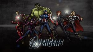The Avengers: Modern | Wallpaper by Squiddytron