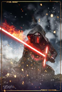 Kylo Ren character poster by zahili