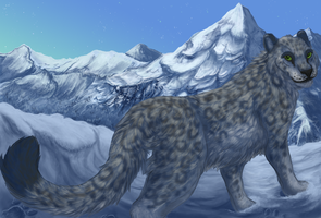 mynx   wip Mountain redo by CyanLights