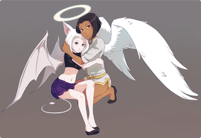 Heavenly Sun and Nene by Meli-lusion by Perfidus