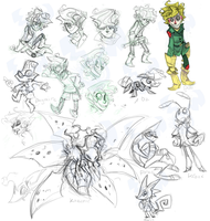 Boog and team concept sketches