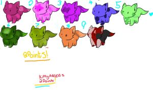 9 Adoptables (2 points per adoptable) by EtheTheKitteh