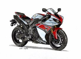 Yamaha YZF R1 WGP 50th Anniversary by Leotrek