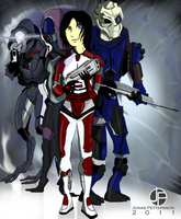 Art Trade - Mass Effect by Harkaiden