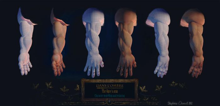 Dans l'Ombre: Ogre's arm modelling and texturing by Le-Garaehld