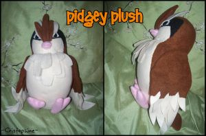 Pidgey Plush by Cristophine
