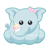 Contest Prize: Baby Elephant by kimchikawaii