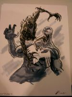 Toronto Comicon Sketch Venom vs Carnage by AndrewKwan