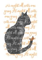 at night all cats are grey by MagpieMagic